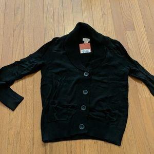 Black cardigan sweater